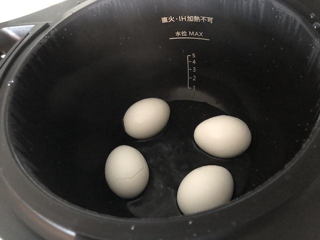 ホットクックでゆで卵